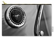 1969 Ford Mustang Mach 1 Side Emblem Carry-all Pouch by Jill Reger