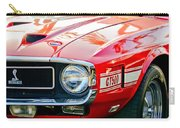 1969 Shelby Cobra Gt500 Front End - Grille Emblem Carry-all Pouch by Jill Reger