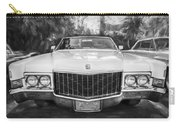 1970 Cadillac Coupe Deville Convertible Painted Bw Carry-all Pouch