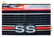 1970 Chevrolet Chevelle Ss 454 Grille Emblem Carry-all Pouch by Jill Reger