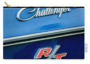 1970 Dodge Challenger Rt Convertible Emblem Carry-all Pouch by Jill Reger