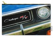 1970 Dodge Challenger Rt Convertible Grille Emblem Carry-all Pouch by Jill Reger