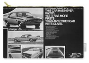 1970 Dodge Challenger T/a Carry-all Pouch