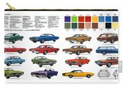 1970 Dodge Coronet Models And Colors Carry-all Pouch