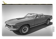 1970 Mach 1 Mustang 351 Cleveland In Black And White Carry-all Pouch