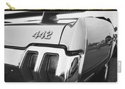 1970 Olds 442 Black And White Carry-all Pouch