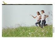 1970s Boy Girl Running Field Carry-all Pouch