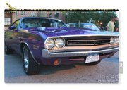 1971 Challenger Front And Side View Carry-all Pouch