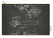 1972 Chris Craft Boat Patent Artwork - Gray Carry-all Pouch