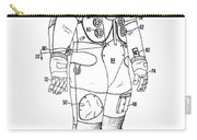 1973 Nasa Astronaut Space Suit Patent Art 3 Carry-all Pouch