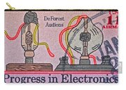 1973 Progress In Electronics Stamp Carry-all Pouch