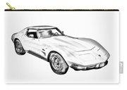 1975 Corvette Stingray Sports Car Illustration Carry-all Pouch
