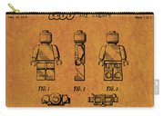 1979 Lego Minifigure Toy Patent Art 4 Carry-all Pouch