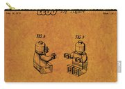 1979 Lego Minifigure Toy Patent Art 6 Carry-all Pouch