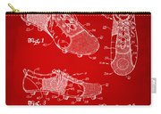 1980 Soccer Shoes Patent Artwork - Red Carry-all Pouch