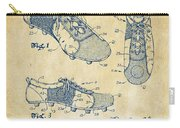 1980 Soccer Shoes Patent Artwork - Vintage Carry-all Pouch