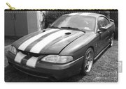 1996 Mustang Cobra In Black And White Carry-all Pouch