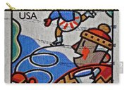 1996 Winter Skaters Stamp Carry-all Pouch