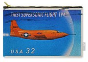 1997 First Supersonic Flight Stamp Carry-all Pouch
