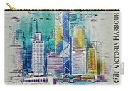 1999 Victoria Harbour Hong Kong Stamp Carry-all Pouch