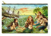 19th C. Mermaids At Ship Wreck Carry-all Pouch