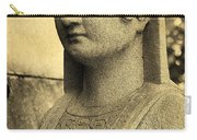 19th Century Granite Stone Sepia Sphinx Bust Poster Look Usa Carry-all Pouch