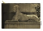 19th Century Granite Stone Sphinx Sepia Profile Poster Look Usa Carry-all Pouch