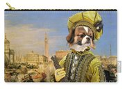 Tibetan Spaniel Art Canvas Print Carry-all Pouch