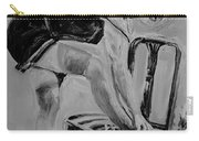 1920s Girl Black And White Carry-all Pouch