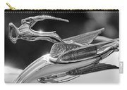 1933 Chrysler Imperial Hood Ornament -0484bw Carry-all Pouch by Jill Reger