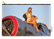 1940s Style Aviator Pin-up Girl Posing Carry-all Pouch
