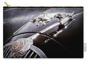 1964 Jaguar Mk2 Saloon Hood Ornament And Emblem Carry-all Pouch