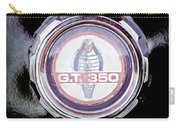 1966 Ford Mustang - Cobra Gt 350 Emblem Carry-all Pouch