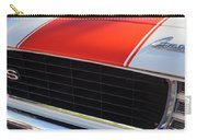 96 Inch Panoramic -1969 Chevrolet Camaro Rs-ss Indy Pace Car Replica Grille - Hood Emblems Carry-all Pouch by Jill Reger