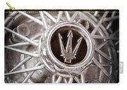 1972 Maserati Ghibli 4.9 Ss Spyder Wheel Emblem Carry-all Pouch