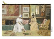 A Friendly Call Carry-all Pouch by William Merritt Chase