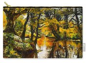 A River Landscape In Springtime Carry-all Pouch