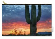 A Saguaro Sunset  Carry-all Pouch