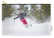 A Skier Descends A Snowy Slope Carry-all Pouch