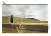 A Woman Out For A Jog In The Country Carry-all Pouch
