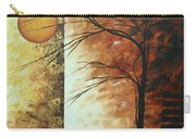 Abstract Gold Textured Landscape Painting By Madart Carry-all Pouch