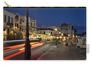 Aegina Port During Dusk Time Carry-all Pouch