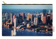 Aerial Morning View Of Boston Skyline Carry-all Pouch