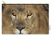 African Lion Portrait Wildlife Rescue Carry-all Pouch