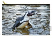 African Penguin Eating Fish Carry-all Pouch