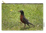 American Robin Gathering Worms Carry-all Pouch