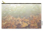 Autumn Leaves Floating In The Fog Carry-all Pouch