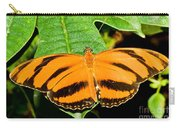 Banded Orange Butterfly Carry-all Pouch