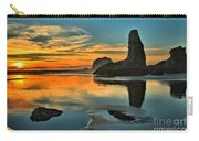 Bandon Beach Sunset Carry-all Pouch by Adam Jewell