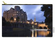 Bath City Spa Viewed Over The River Avon At Night Carry-all Pouch